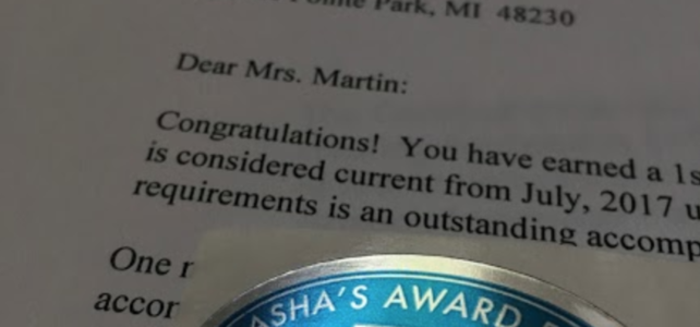 The Surprise In My Mailbox: ASHA ACE Award